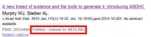 Entrada de Pubmed indexada en Medline
